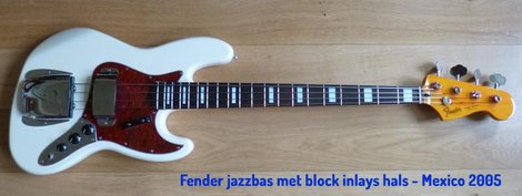 Fender Jazzbas met block inlays hals - Mexioc 2005